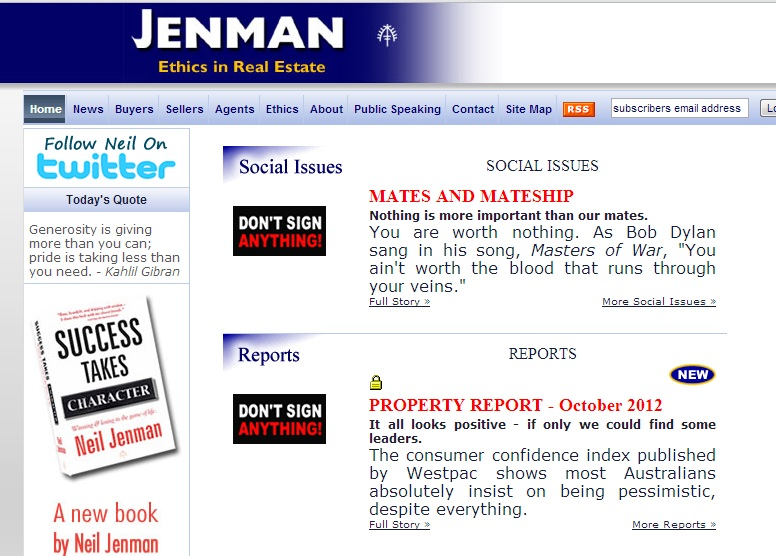 FHB Tips: Jenman Website