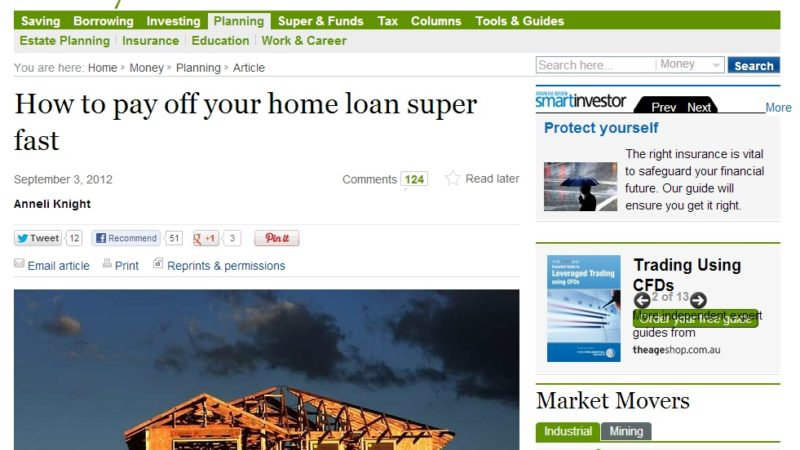 How (NOT!) To Pay Off Your Home Loan Super Fast