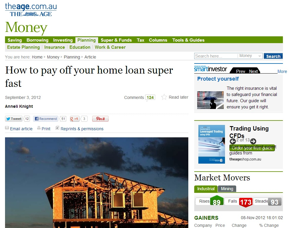 How not to pay off your home loan super fast mutilate for Mortgage loan to build a house