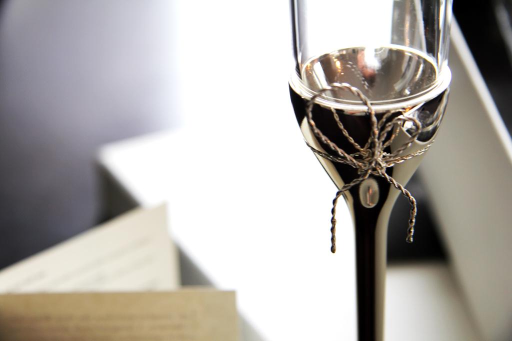 Anniversary Champagne Glass